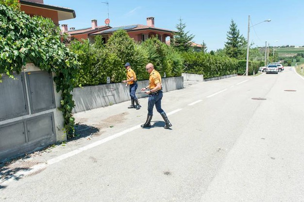 I rilievi dopo l'incidente nel rally di San Marino (Foto Pruccoli)
