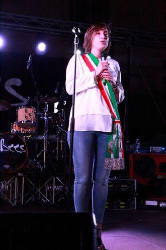 Il vice sindaco Alessia Rossi alla Notte Celeste 2017 di Bagno di Romagna (foto Ravaglia)