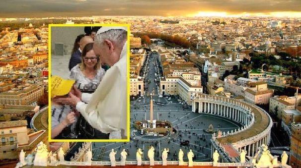 Nel riquadro l'incontro tra il Papa e Federico