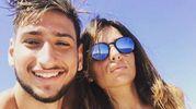 Gianluigi Donnarumma, del Milan, e Alessia Elefante (Instagram)