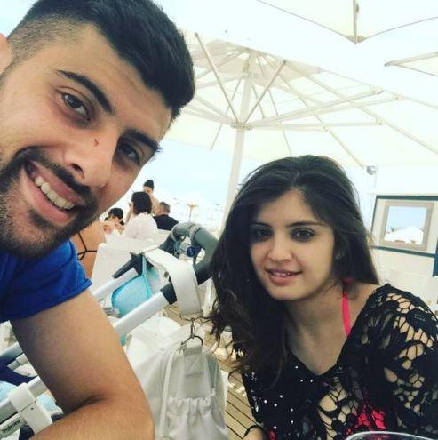 Marco Benassi, centrocampista del Torino, con la moglie (Instagram)