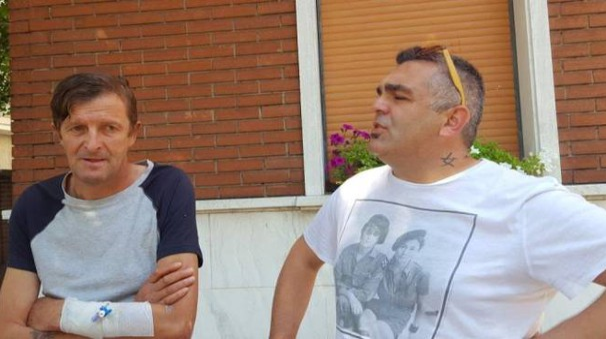 Mircea Burlacu con il leghista Nicola Naomo Lodi