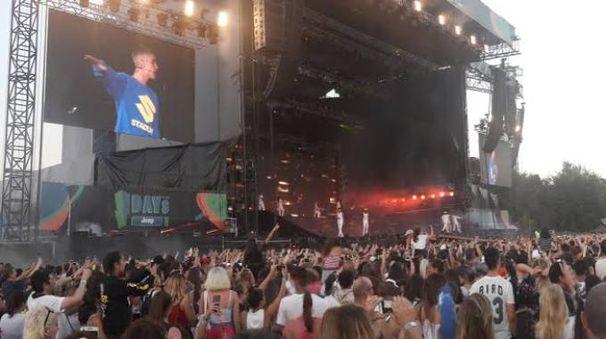 Justin Bieber sul palco degli I-Days
