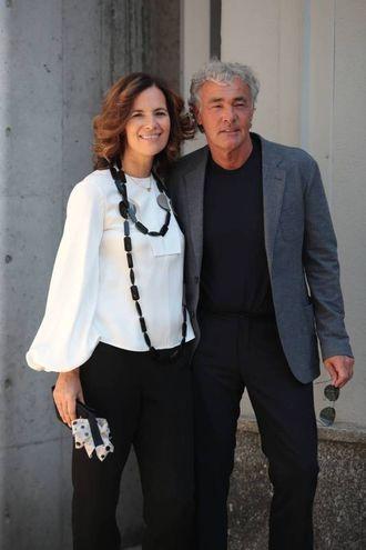 Roberta Armani con Massimo Giletti (Olycom)