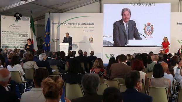 Paolo Gentiloni: tutte le autorità cittadine per la sua visita a Pesaro