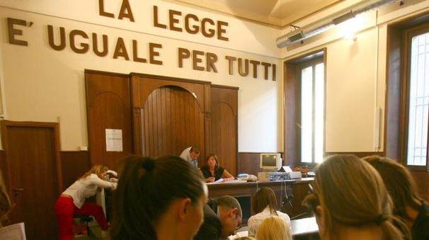 Un'aula del tribunale di Monza