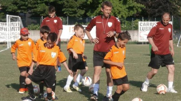 Carmine Parlato e i suoi piccoli allievi