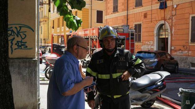 L'intervento dei vigili del fuoco (foto Frascatore)