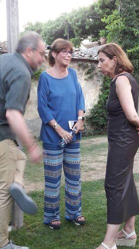 Bernardo Pontello con la moglie e la cugina Patrizia