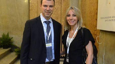 Lucia Aleotti, presidente Menarini, con il fratello Alberto, vice presidente