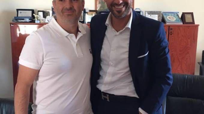 Roberto Gallucci, consigliere anziano (Pd) e sindaco Alessio Terrenzi