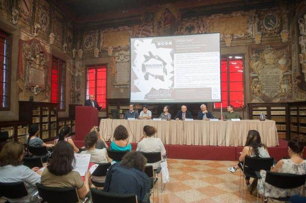 La sala Stabat Mater della biblioteca dell'Archiginnasio (foto Schicchi)