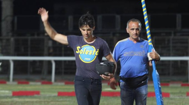 Luca Innocenzi con Paolo Margasini (Foto Labolognese)
