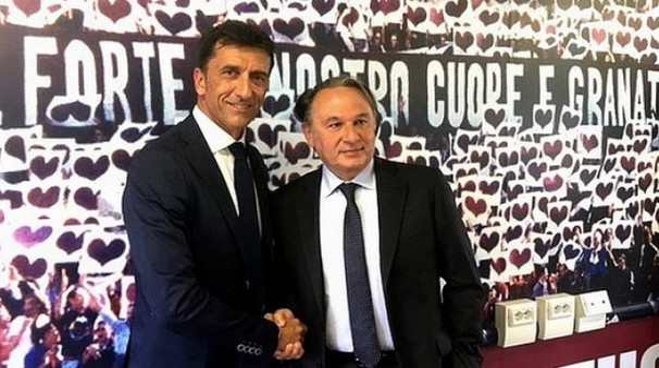 Fano, il direttore sportivo Max Menegatti e il presidente Claudio Gabellini