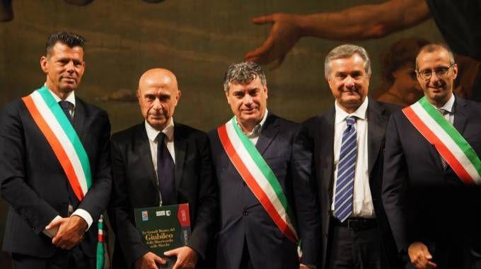 Il Ministro Minniti con Mangialardi, Ricci e Seri