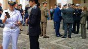 La comandante dell'Ufficio Marittimo Di Donato e la vice comandante dei vigili Montagna