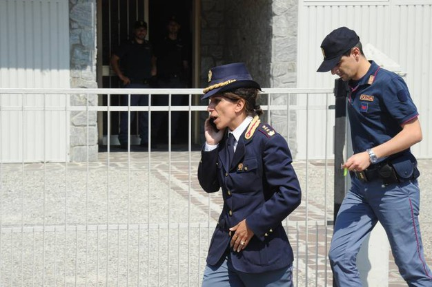 Indagini della polizia (Foto Fiocchi)