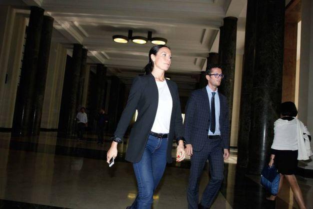 Nicole Minetti in triabunale a Milano (LaPresse)