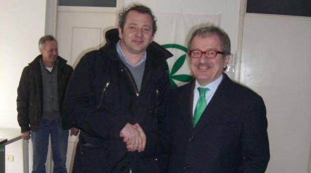 Christian Borromini insieme a Roberto Maroni