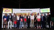 Da sinistra: Lapadula, Civoli, Tacconi, Sacchi, Longhi, Di Francesco, Baldassari, Ballardini, Lodi, Valdifiori, Doriano Rabotti e Beppe Tassi (foto Zani)