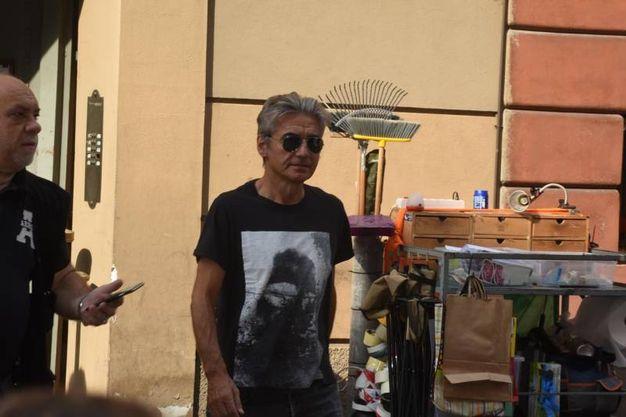 Ligabue a Reggio Emilia per le riprese del suo terzo film (foto Artioli)