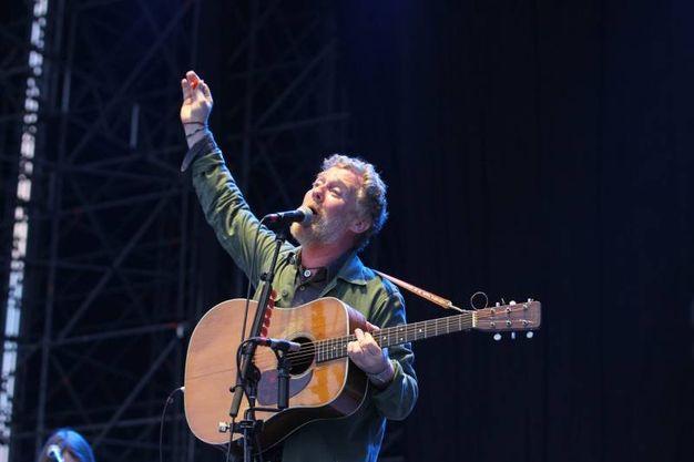Glen Hansard alla Visarno Arena per il festival Firenze Rocks (foto Tania Bucci/New Pressphoto)