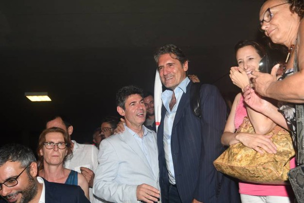 De Pasquale festeggia la vittoria (Delia)