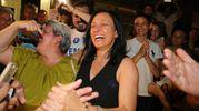 Cori e risate per festeggiare la vittoria  (foto Petrangeli)