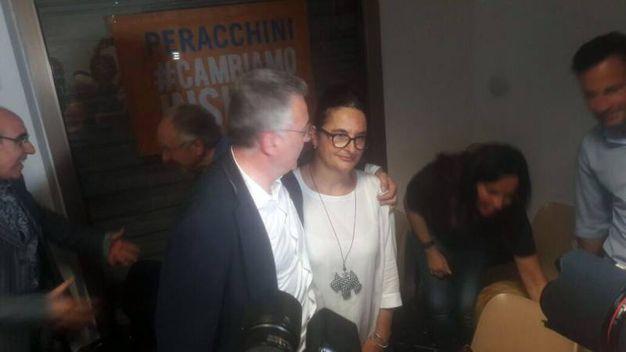 La Spezia, Peracchini è il nuovo sindaco. La festa dopo i risultati (Frascatore)