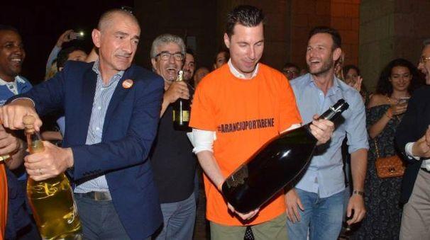I festeggiamenti per Peracchini sindaco