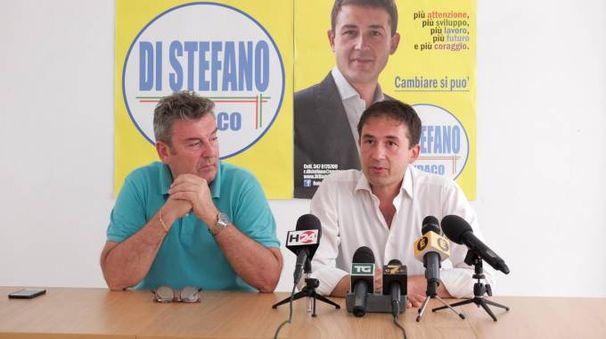 Roberto Di Stefano (a destra) con Gianpaolo Caponi