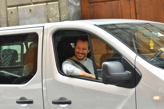 Stefano Accorsi sul set (foto Artioli)