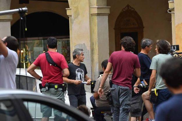 Il set del terzo film di Ligabue (foto Artioli)