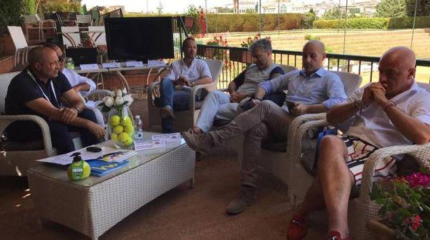 La presentazione degli Internazionali al Tc Perugia
