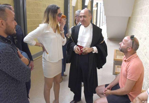 Gessica Notaro in tribunale (foto Migliorini)