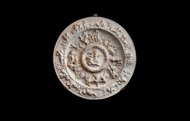 1680 Allegoria del dominio della Toscana sul mare calco in gesso