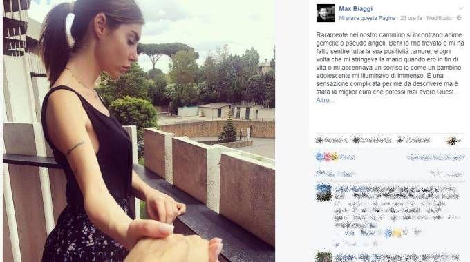Max Biaggi insieme a Bianca Atzei (da Facebook)