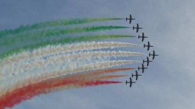 Esibizione delle Frecce Tricolori