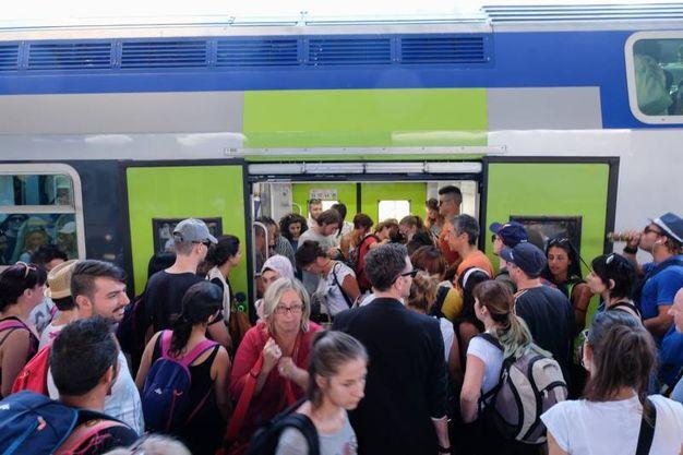 I fan in attesa di trovare un posto per Modena (foto Schicchi)
