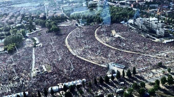 Modena Park dall'alto: la foto postata da Vasco Rossi