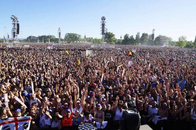 220.000 persone a Modena Park (Foto Lapresse)