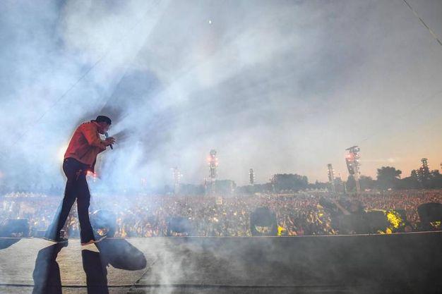 Vasco Rossi a Modena Park (Foto Lapresse)