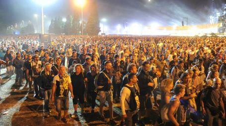Modena Park, il deflusso dei fan dopo il concerto di Vasco Rossi (foto Fiocchi)