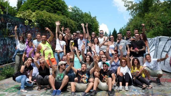 Fan di Vasco Rossi a Zocca (foto Walter Bellisi)