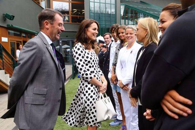 La duchessa con l'ex tennista Martina Navratilova (Lapresse)