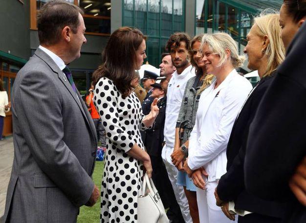 Chiacchiere con l'ex giocatrice Kim Clijsters (Lapresse)