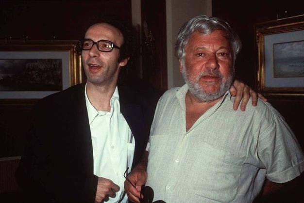 Con Roberto Benigni (Olycom)