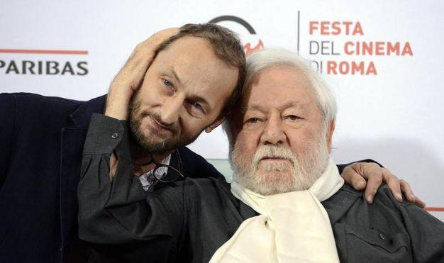 Con il figlio Piero al Roma Film Festival (Ansa)
