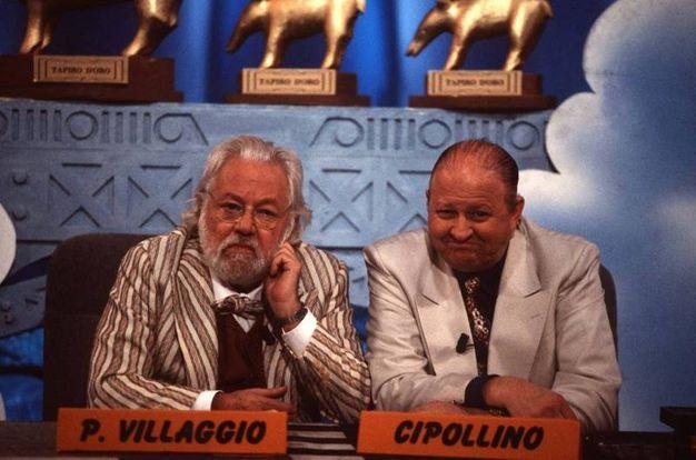 Alla conduzione di 'Striscia la notizia' con Massimo Boldi (Olycom)
