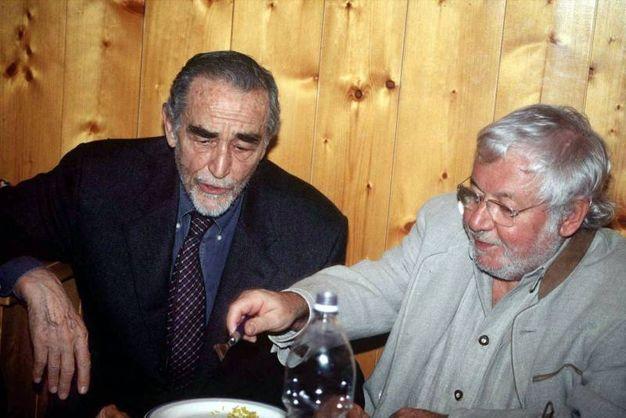 Con Vittorio Gassman (Olycom)